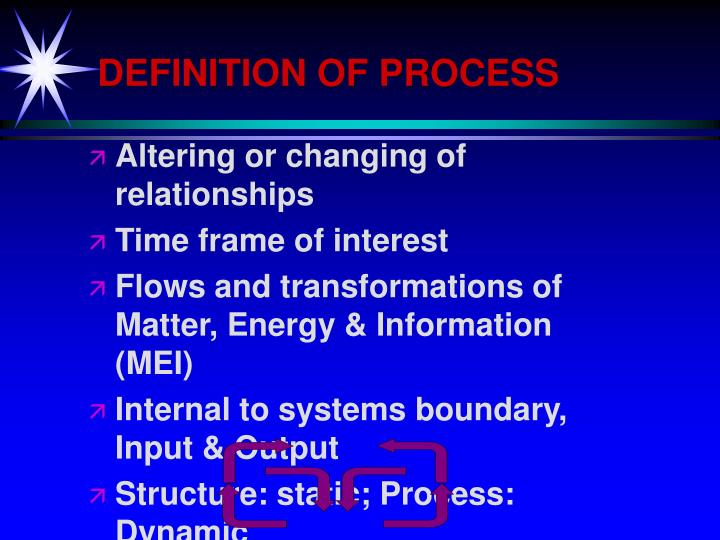 DEFINITION OF PROCESS