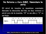 no retorno a cero nrz nonreturn to zero