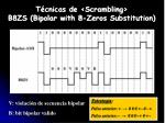 t cnicas de scrambling b8zs bipolar with 8 zeros substitution1