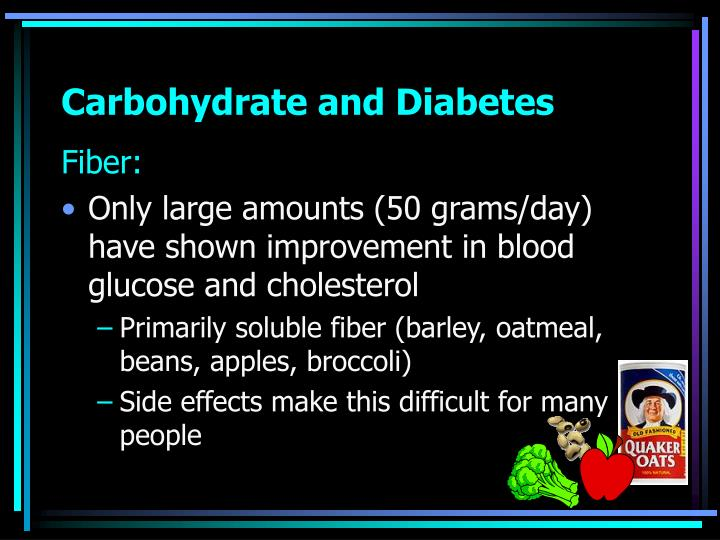 Carbohydrate and Diabetes