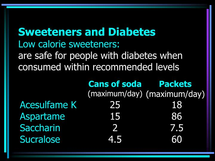 Sweeteners and Diabetes