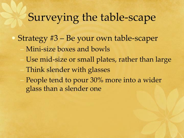 Surveying the table-scape