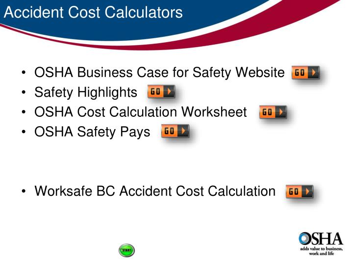 Accident Cost Calculators