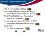 harwood grant materials 1 2