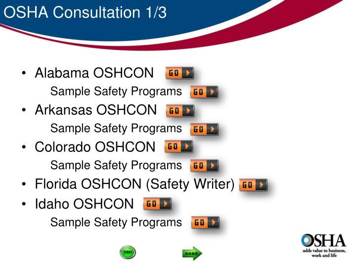 OSHA Consultation 1/3