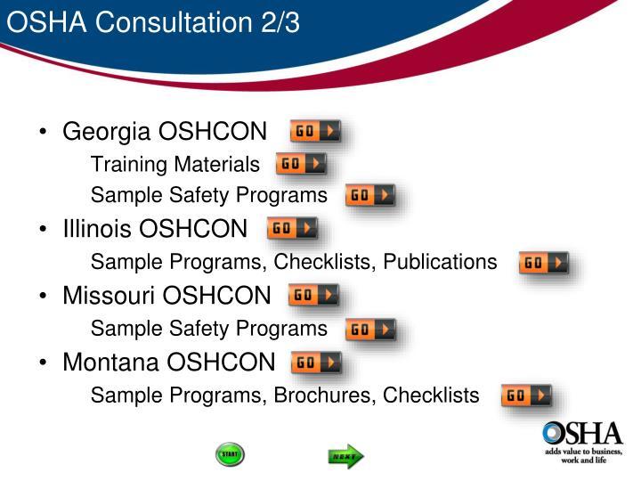 OSHA Consultation 2/3