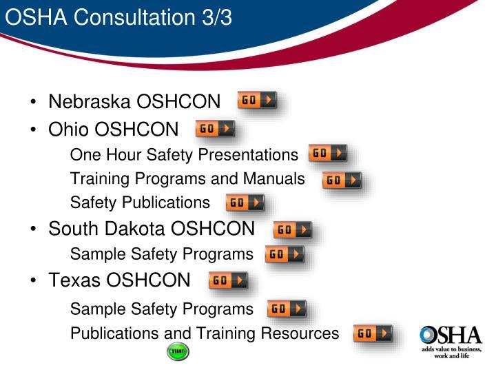 OSHA Consultation 3/3