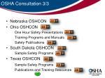 osha consultation 3 3