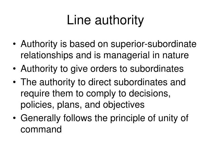 Line authority