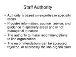 staff authority