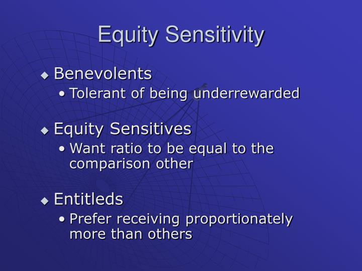 Equity Sensitivity