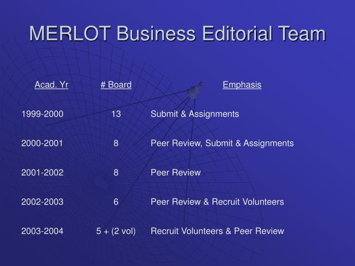 MERLOT Business Editorial Team