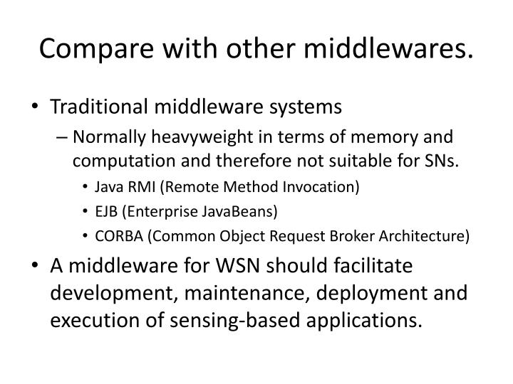 Compare with other middlewares.