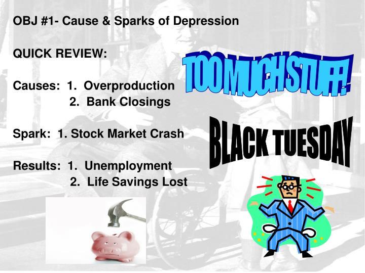 OBJ #1- Cause & Sparks of Depression