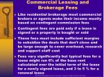 commercial leasing and brokerage fees