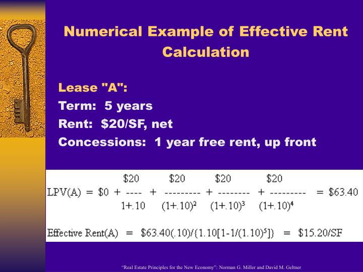 Numerical Example of Effective Rent Calculation