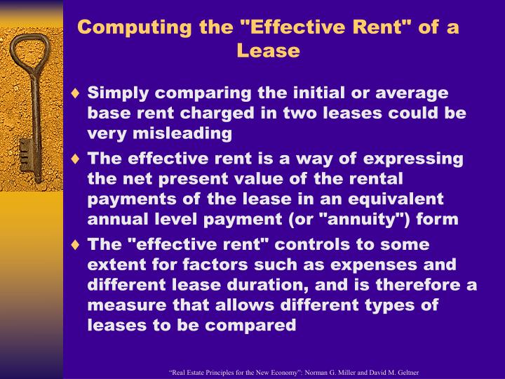 "Computing the ""Effective Rent"" of a Lease"