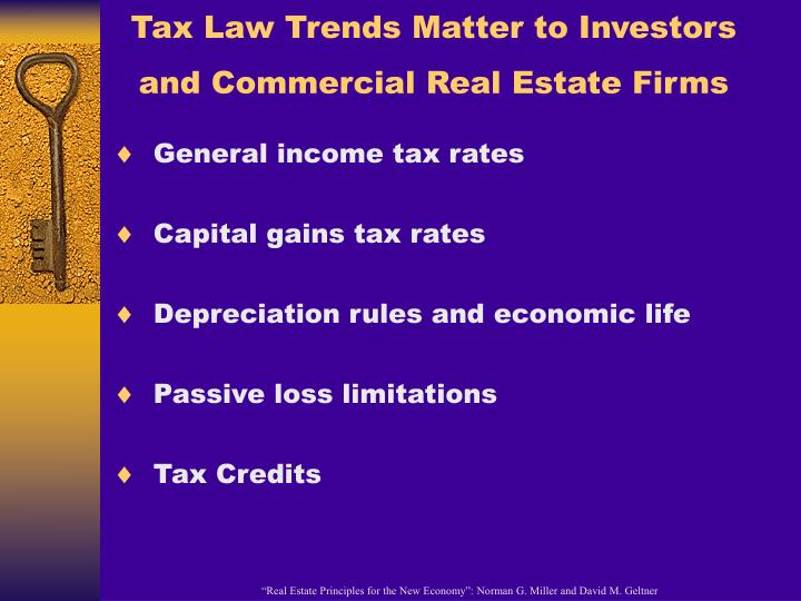 Tax Law Trends Matter to Investors and Commercial Real Estate Firms