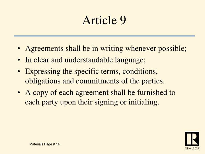 Article 9