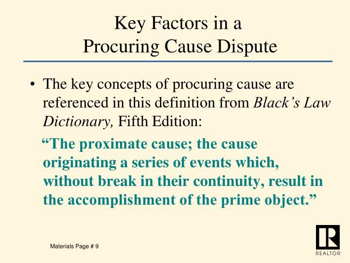 Key Factors in a