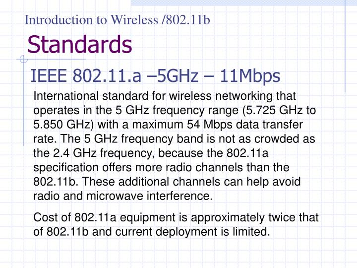 Introduction to Wireless /802.11b