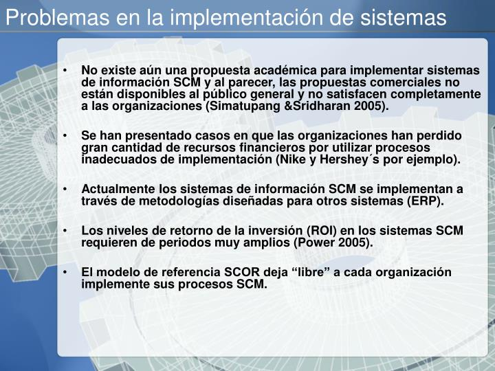 Problemas en la implementación de sistemas