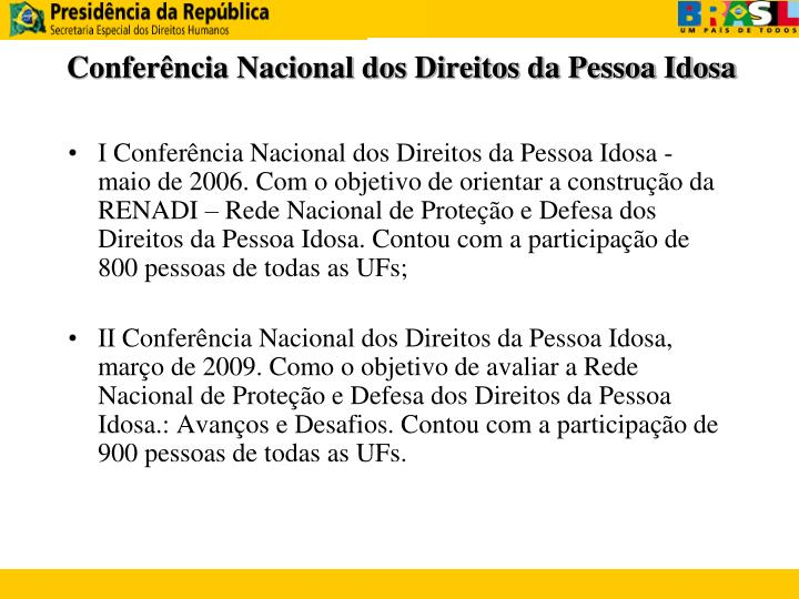 Conferência Nacional dos Direitos da Pessoa Idosa
