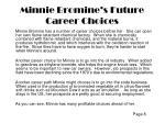 minnie bromine s future career choices
