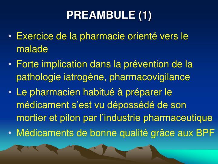 PREAMBULE (1)