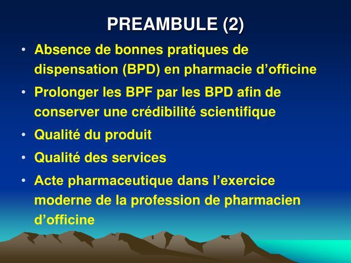 PREAMBULE (2)