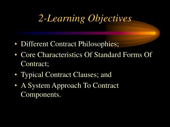 2-Learning Objectives