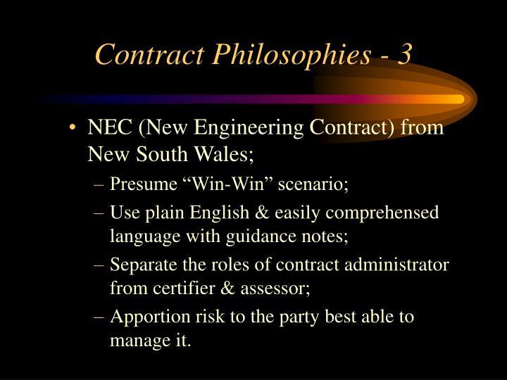 Contract Philosophies - 3