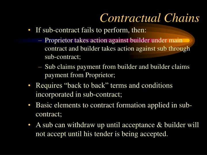 Contractual Chains