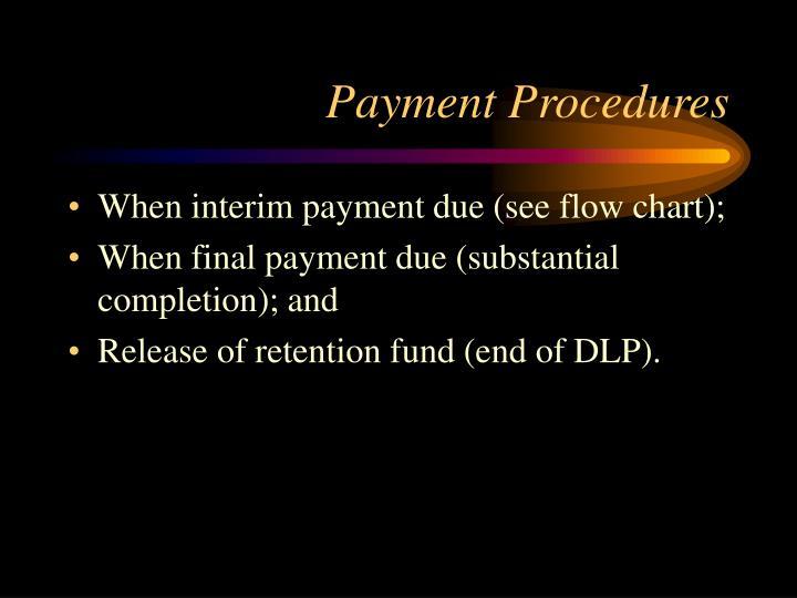 Payment Procedures
