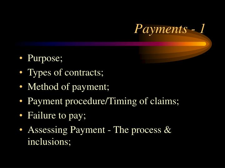 Payments - 1