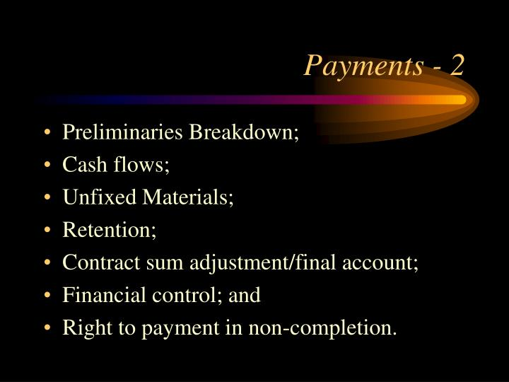Payments - 2