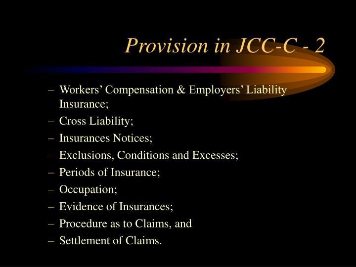 Provision in JCC-C - 2