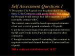 self assessment questions 1