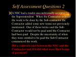self assessment questions 21