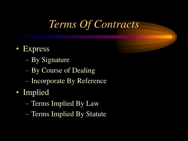 Terms Of Contracts