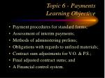 topic 6 payments learning objective