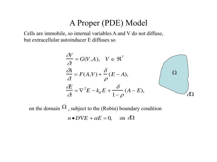 A Proper (PDE) Model