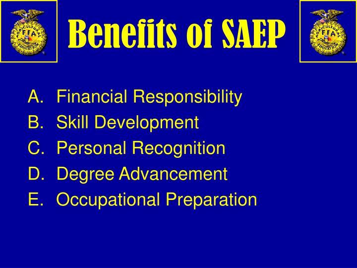 Benefits of SAEP