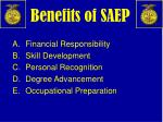 benefits of saep