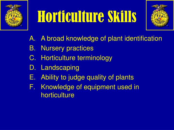 Horticulture Skills