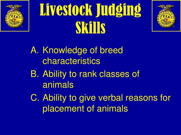 Livestock Judging Skills