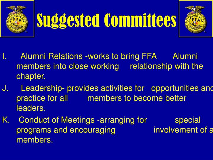 Suggested Committees
