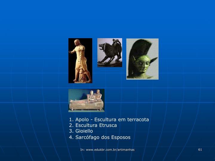 1. Apolo - Escultura em terracota