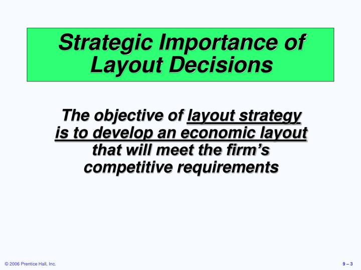 Strategic importance of layout decisions