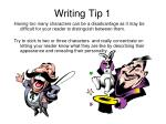 writing tip 1